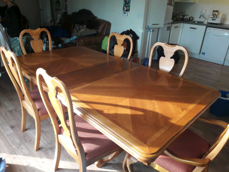 Dining table  extendable with 6 chairs   in London   Gumtree
