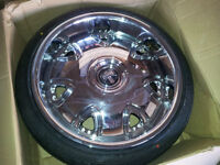 Set of 4 Chrome DUB wheels with Rubber