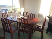 Mahogany dining table 6 chairs