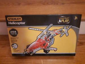 Unopened New Stanley Helicopter Construct & Play Toy