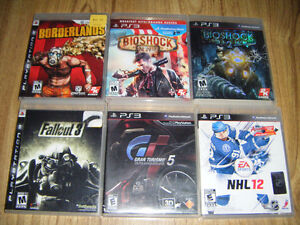 6 Playstation 3 games for sale