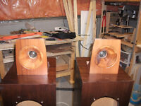 """Dynavox TD2801XL 1-1/8"""" Silk Dome Tweeter with wooden horn"""