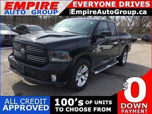 2015 RAM 1500 SPORT * 4WD * LEATHER/CLOTH * REAR CAM * SUNROOF *