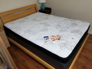 Like New Queen Mattress and Frame