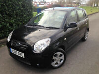 2010 10 KIA PICANTO 2 1.1 Graphite 5 DOOR A/C IDEAL FIRST CAR RFL £30 A YEAR !!