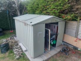 Free metal shed 9ft long x 7ft