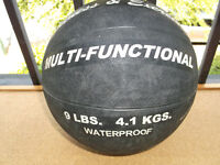 MEDICINE BALL 9LBS, NEW. MOST FUNCTIONAL PIECE OF EQUIPTMENT