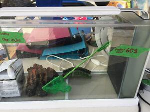 Aquarium 5 gallons avec accessoires