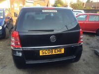Vauxhall Zafira 1.6 petrol 2008/ mileage 55000 breaking for parts.