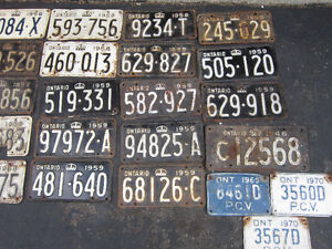 COOL OLD LICENSE PLATE FOR SHOP, MAN CAVE OR SIGN DECOR Only $10 Kitchener / Waterloo Kitchener Area image 8