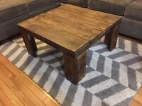 Solid Birch and Reclaimed Barn Wood Coffee Table