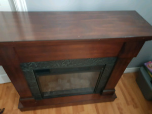 Fire place with heating insert