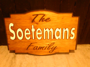 Custom 3d cnc signs. Great Christmas gift!