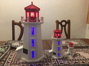 Peggy's Cove lighthouse 18 inches with lighting