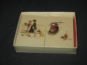 Vintage Norman Rockwell Playing Cards NEW & SEALED 2 Decks