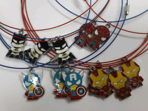 Superhero Marvel/DC Necklaces, Christmas Gifts