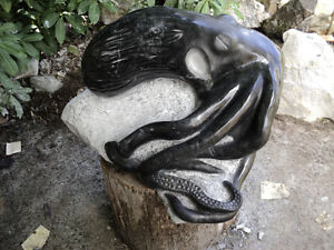 marble octopus sculpture
