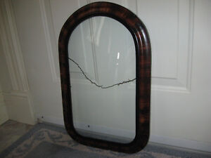 BEAUTIFUL OLD ANTIQUE PICTURE FRAME with CONVEX GLASS