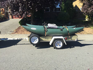 10 foot Pontoon boat and trailer