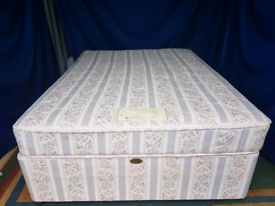 Double divan base with mattress (free delivery)