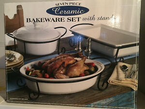 7 piece ceramic bakeware set