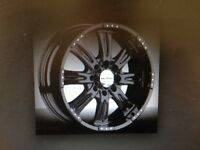 "22"" black Demoda intimidator rims"