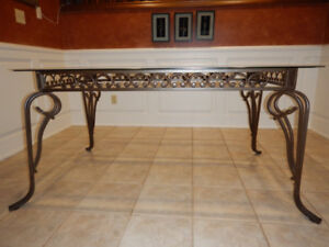 Metal / Glass Dining Table