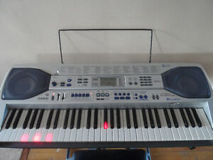 Casio LK-92TV MIDI 61-Key  Piano Keyboard W/ Stands & Bench