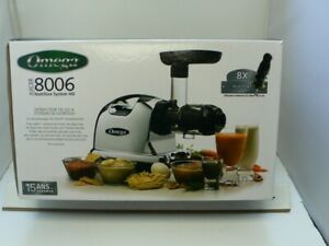 Omega Heavy Duty Horizontal Slow Juicer 8004 8006 New In Box