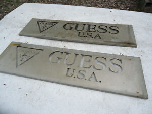 Vintage Guess Jeans USA Metal Signs from jean store Peterborough Peterborough Area image 3