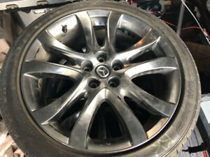 "Beautiful set of 19"" oem Mazda 6 wheels with Dunlop sport tires"