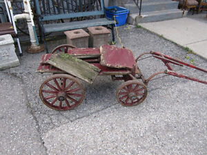 #greenspotantiques grain scale cart, old wagon wheel cart, Cadil Cambridge Kitchener Area image 3