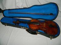 Scottish school, violin in case circa 1889.