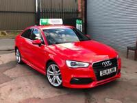 2014 AUDI A3 2.0 TDI S LINE 4 DOOR SALOON RED NEW SHAPE GOLF GTD S3 LEON FR A4