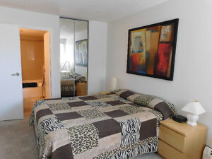 Fully furnished condo includes utilities, cable, heated pkg