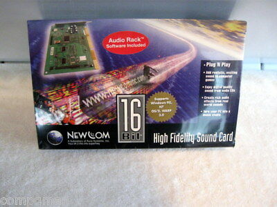 Hi Fi  16 Bit Sound Card Internal Half Card New Old Stock Fast Shipped