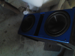 """Alpine Dual 12"""" Subs for suv or car trunk 3000 watts"""