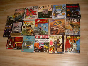 Huge lot of 18 Vintage Computer games from the 90s up PC CD ROM