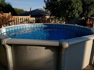 Above ground pool, 15' wide