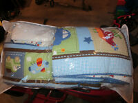Crib Bedding - includes all pieces.