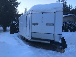 14 X 8.5 V-nosed Enclosed Snowmobile Trailer For Sale
