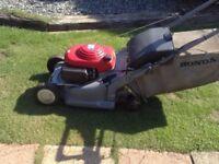 Honda lawnmower petrol large deck