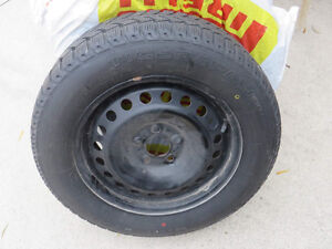 4 Winter Tires on Rims (gently used)