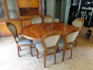 Italian Classic Walnut Dining Room Set Plus More