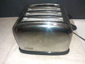 Russell Hobbs chrome retro double plus toaster