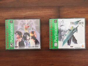 Final fantasy VII and VII mint condition