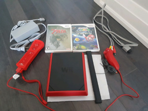 Nintendo Wii Mini with Two Games.