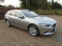 FULLY LOADED NEW SHAPE 2013 63 Mazda 6 2.2 DIESEL175ps ESTATE SPORT NAV 1 OWNER