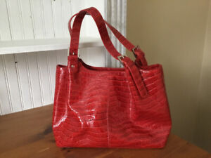NEW red patent purse