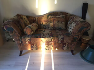 Love seat by sofa work